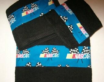 Nascar Towel Set, Nascar, Black Towels - Nascar Towel Set - Blue - Nascar