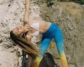Women's Yoga Leggings /Colouful Yoga Pants / Ombre Workout Leggings / Tie Dye Leggings