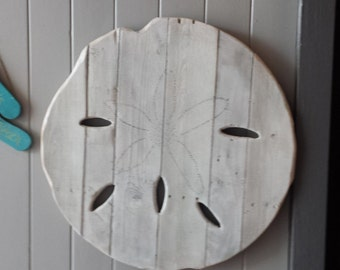 "Sand Dollar made with Reclaimed Pallet Wood ( large 25"" diameter)"