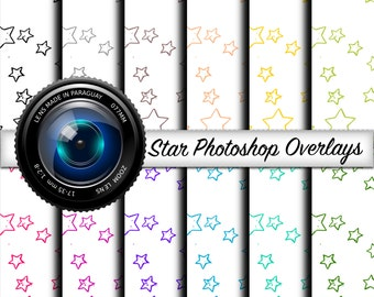 Star Photoshop Overlays - Photoshop Elements, Photo Overlays, Design Elements, Photo Elements, Picture Overlays, Digital Over Lays, Photos