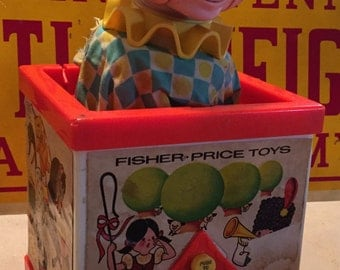 Fisher Price Jack In The Box Puppet, Model #138, 1970