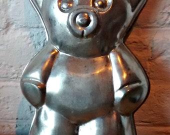 Teddy Bear Cake Tin French Vintage