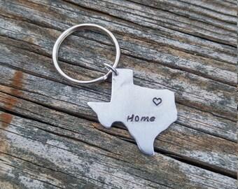 Personalized Texas Keychain | TX Keychain | Personalized Keychain | Custom Keychain | State Keychain | Custom State Keychain