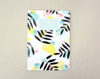 Notebook / watercolor pattern book / A5 / handmade / Made in france