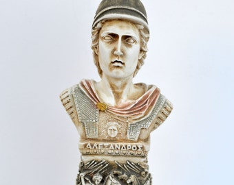 Alexander the Great column sculpture bust Ancient Greek Macedonian