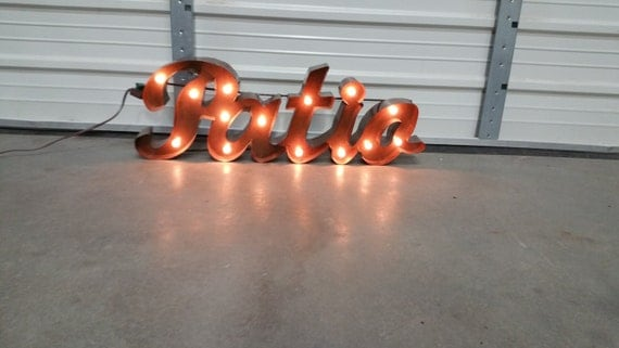 Patio Marquee sign, metal patio sign- summer signs- backyard signs- patio signs