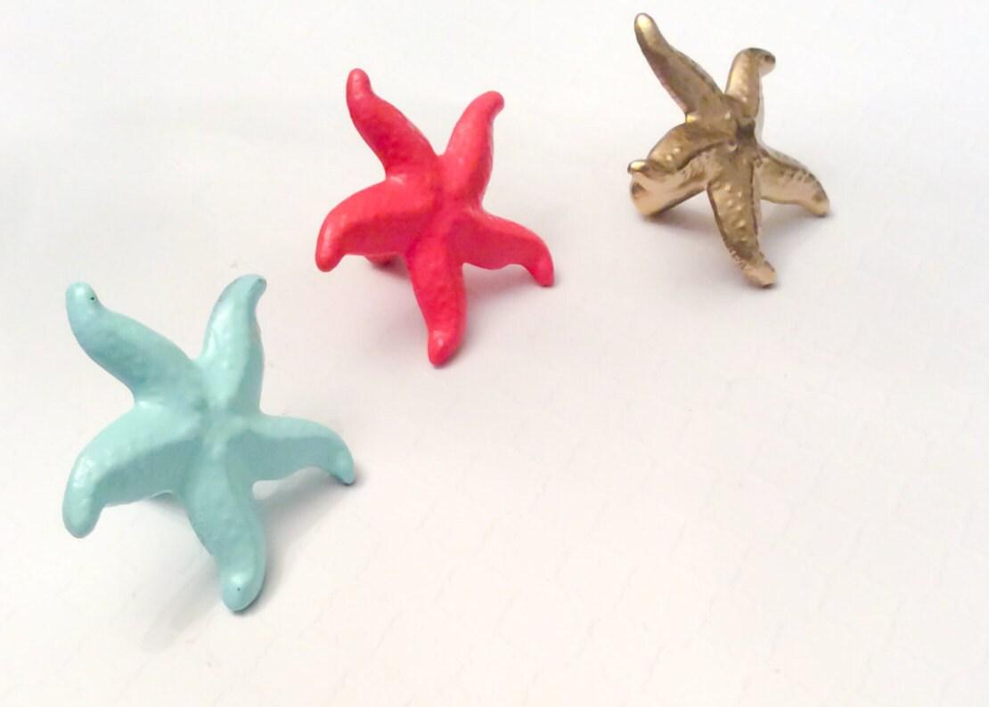 Starfish Knob Beach Cabinet Knob Nautical Pulls