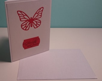Red butterfly - card