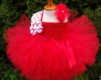 Valentine Tutu Outfit/Baby Valentines Outfit/Valentines Tutu Dress/Red Tutu Dress/Valentine Tutu/Birthday Outfit/Toddler Valentine Outfit