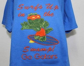 University of Florida boys shirt, Gator boy t shirt, Alligator shirt, Gator boy shirt, UF Gators shirt for boys, Orange and blue, Florida
