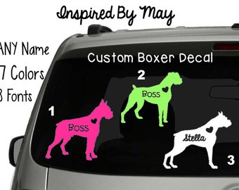 Boxer Custom Decal - YOUR CHOICE