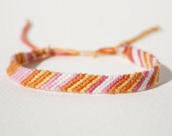 Pink and Orange Friendship Bracelet