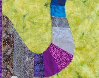 Elephant Trunk - Quilt Karma Pattern - Paper Strip Piecing Raw Edge Applique