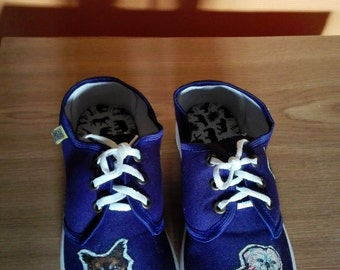 hand-painted sneakers/ canvas shoes/ custom shoes/ art design shoes/painted sneakers/personalised shoes/dog print