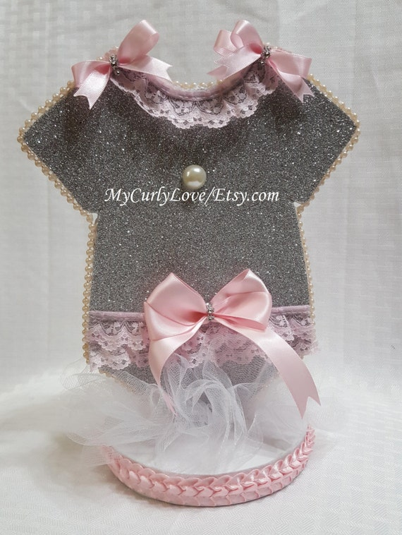 pink and silver baby shower centerpiece pink and silver baby shower