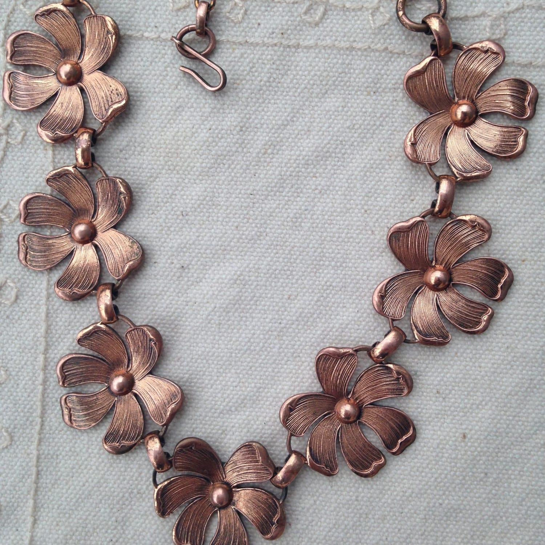 Choker Necklace Etsy: Copper Necklace Copper Necklaces Vintage Necklaces Copper