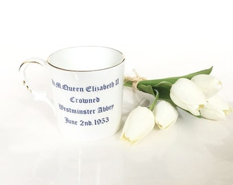 Aynsley China Queen Elizabeth 1953 Coronation Mug