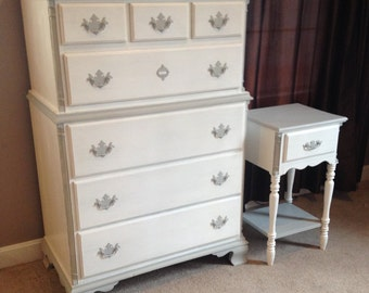 Charming bedroom set - dresser and nightstand