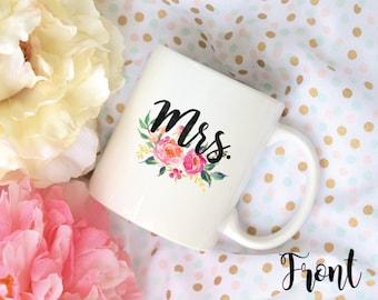 Mr. and Mrs. Mug Set, Coffee Mug, Sublimation Mugs, 2 Sided, Living My Happily Ever After