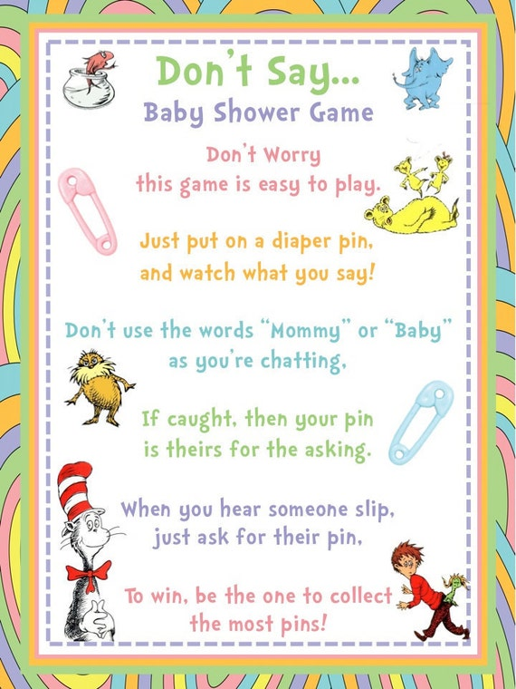 don 39 t say dr seuss themed baby shower game