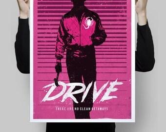 Alternative drive ryan gosling poster movie cinema geek wall art home decor geek print