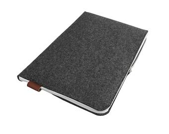 FELT LAPTOP SLEEVE 02 Macbook Cover Dark Gray Fet White Zipper all laptops sizes