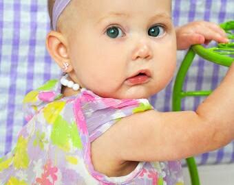 Baby Headband, Flower Headband, Purple, Girls Headband, Baby Bow, Flower Bow, Girls Bow, Girls Hair Clip, Girls, Baby, Bows, Headbands, Cute