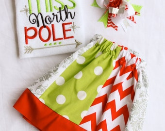 Little Miss North Pole Christmas outfit
