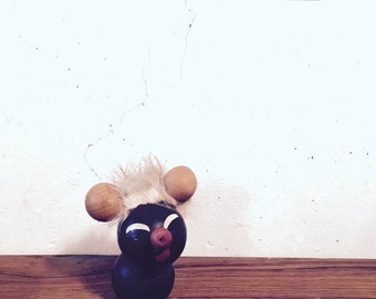 Nasty little mouse figurine with Hans Bolling hairstyle • • modern danish design mid century decoration • toys •