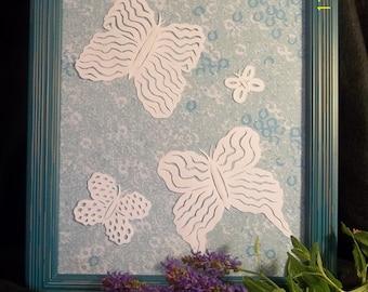 Flying high butterflies papercutting