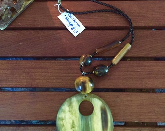 Kenyan cowhorn necklace