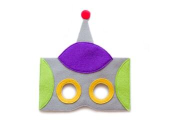 ROBOT Felt Mask - Cyborg Mask - Kids Adults Mask - Robos Costume - Futuristic Party Accessory - Robot Dress up - Pretend play - Cartoon mask