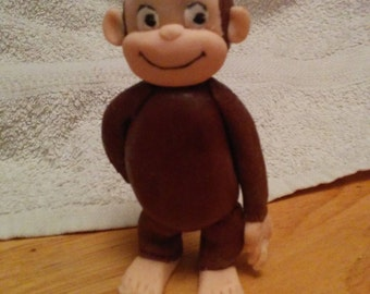 FLASH SALE: Handmade Fondant Curious George Cake Topper