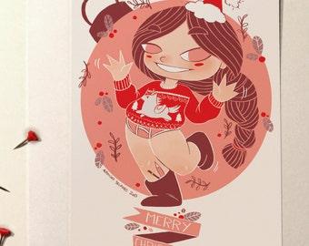 "Greeting card ""Merry Christmas"""
