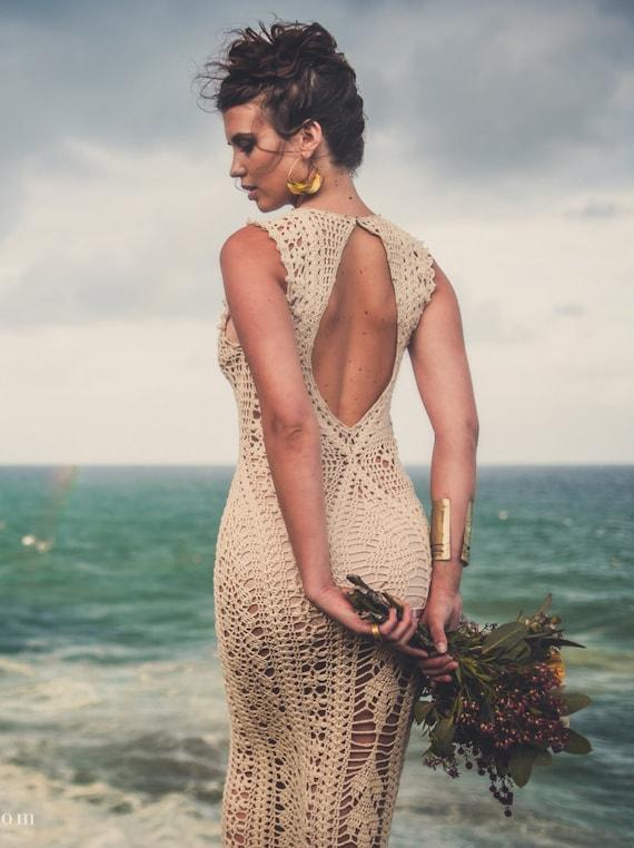 "Handmade Crochet Wedding Dress ""LUNA MENGUANTE"""