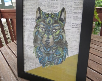 be free wolf print