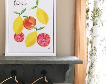Citrus Fruit Art Print