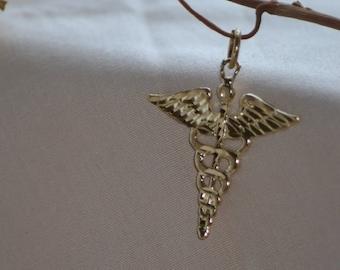 Vintage 10 K gold Medic Alert pendant