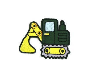 Engineering Truck Excavator Sew On / Iron On DIY Patch Embroidered Applique 5x3.9cm - RP299