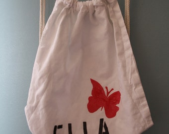 Gym bags for children is named Butterfly