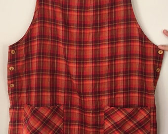 vintage plaid button dress