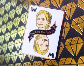 Hillary Clinton Woman Card Pin