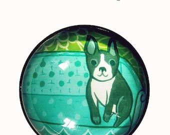 dog lover gift, boston terrier gifts, dog illustration MAGNET, boston terrier decor, home decor, french bulldog magnet, boston terrier art