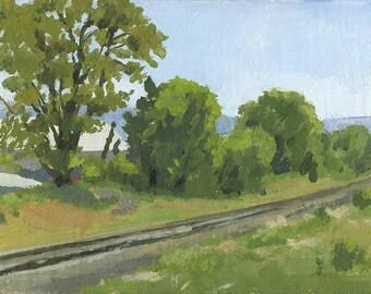Late Spring, Mistletoe Road, Ashland, OR: Original Oil Painting Plein Air Landscape