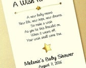 80 A Wish for Baby - Little Star Theme - Wish Bracelet Party Favor Custom Made for You