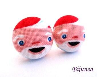Dwarf earrings - Red dwarf stud earrings - Dwarf posts - Dwarf post earrings - Little people studs sf1244