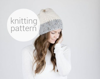 Pattern / Ozetta Two-Tone Knit Hat Pattern Instant Download For The Frontier Hat