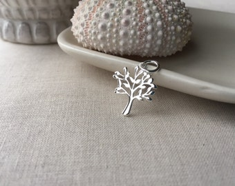 Tree of Life Charm, Sterling Silver, Silver Tree Charm, Sterling Silver Tree of Life Charm, 16mm, (1), 10% off use code SAVE10