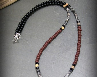 Mens Beaded Necklace, Mens Jewelry, Boho Necklace for Men, Minimalist Necklace, Necklace for Men, Native American, Southwest Jewelry