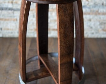 wine barrel barstool red mahogany finish alpine wine design outdoor